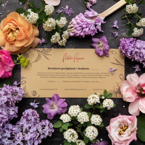 Kvetinové predplatné v hodnote 50€